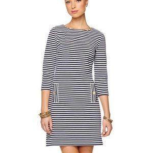 Lilly Pulitzer Charlene Navy Striped Dress